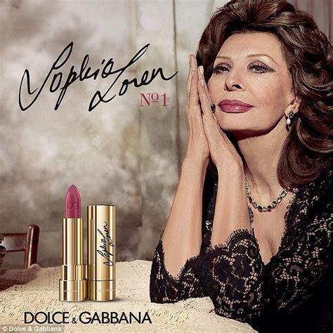 new lipstick commercial 2016 sophia loren 81 stars in new dolce gabbana lipstick