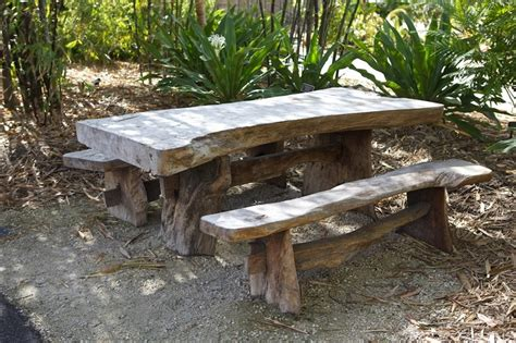 rustic picnic bench rustic picnic table outside pinterest