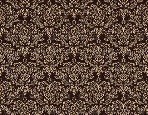 chocolate damask wallpaper damask seamless brown wallpaper royalty free vector clip