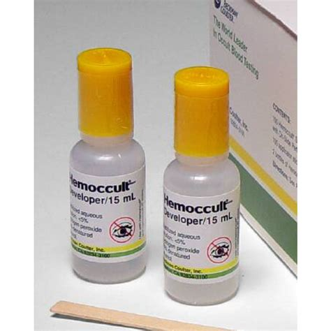 Stool Hemoccults by Hemoccult Developer Solution Fecal Occult Blood Test 62115