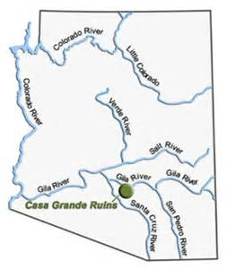 map of arizona rivers where did their river go casa grande ruins national