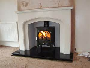 marble surrounds for wood burners interior