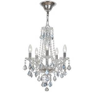 Mini Black Crystal Chandelier Simone Five Light Blue Crystal Mini Chandelier By Crystorama