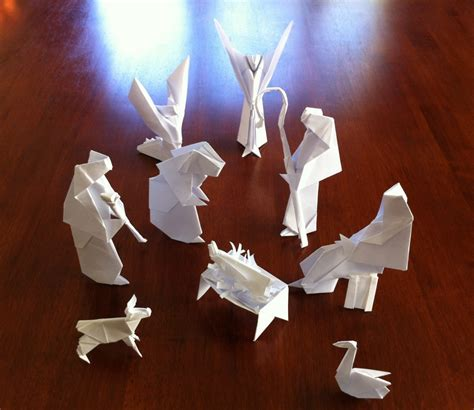 Origami Nativity - easy origami nativity comot