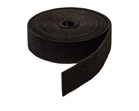 1 quot inch roll hook and loop reusable cable ties wraps