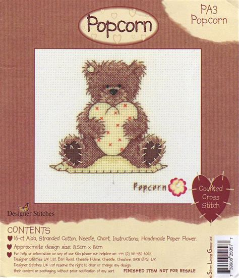 Tempat Pop Corn Stitch Pop Corn 17 best images about cross stitch popcorn on stitching punto and just cross
