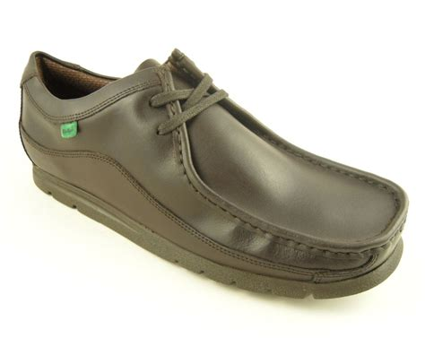 mens kickers fragile brown leather wallaby shoes 6 11 ebay