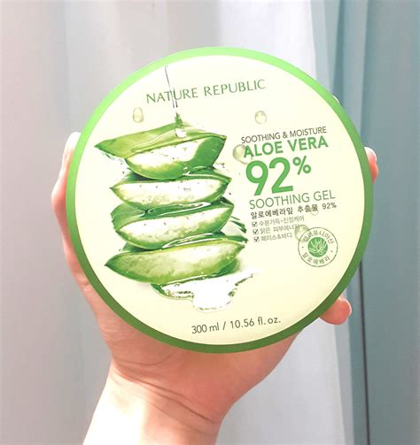 Nature Republic Aloe Vera 92 Soothing Gel Mist Original 20ml 7 amazing ways to use nature republic aloe vera 92 soothing gel review