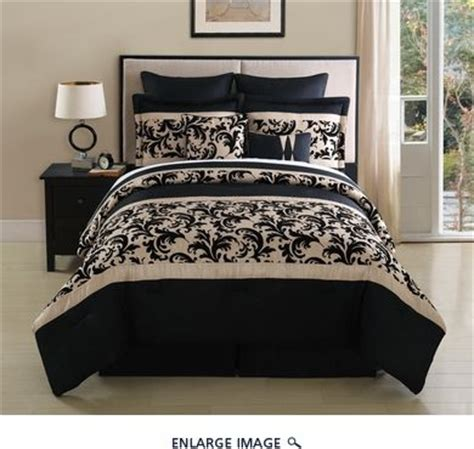 black white taupe bedroom 8 piece king montessie black and taupe comforter set