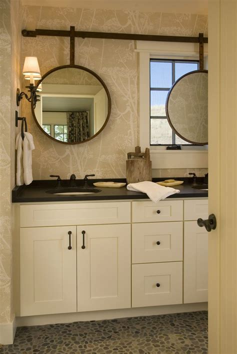 mirrors over bathroom sinks mirror over window bathroom transitional with sliding