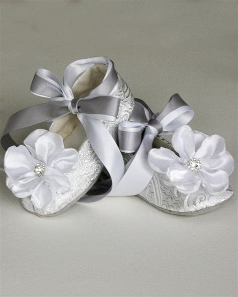 ivory childrens ballet slippers silver toddler shoes baby flower shoe also gold