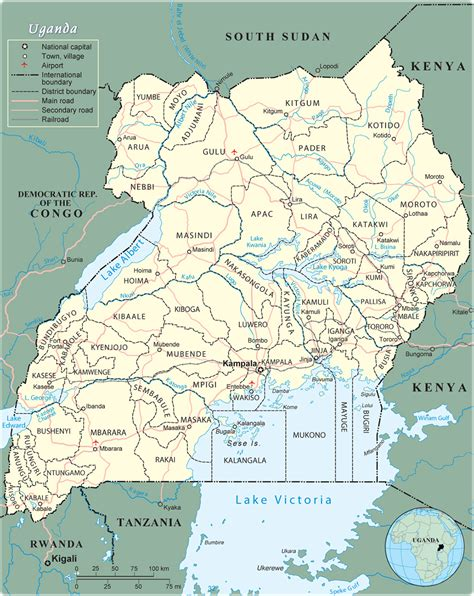 map of uganda map of uganda africa