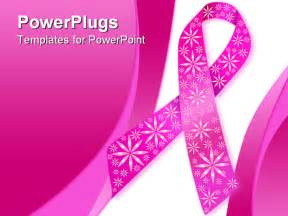 free breast cancer powerpoint templates breast cancer ribbon in pink with glitter flowers