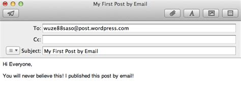 send secret email post by email support