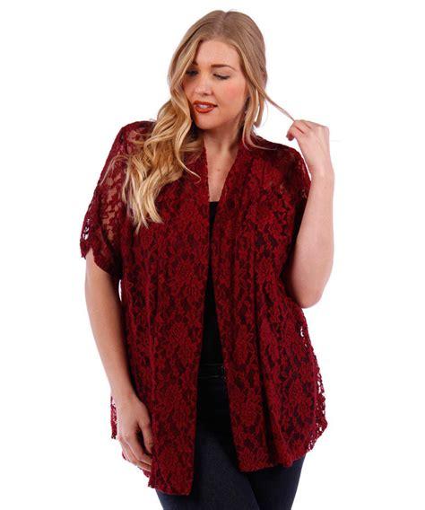Blazer Lace Maroon burgundy lace open cardigan plus size new 4x 5x 6x sleeve jacket ebay