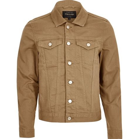 light spring jacket mens light brown denim jacket coats jackets sale men