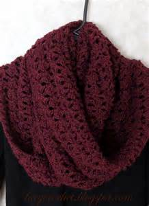 How To Make An Infinity Scarf With Yarn Lacy Crochet Lacy Infinity Scarf In Burgundy Color