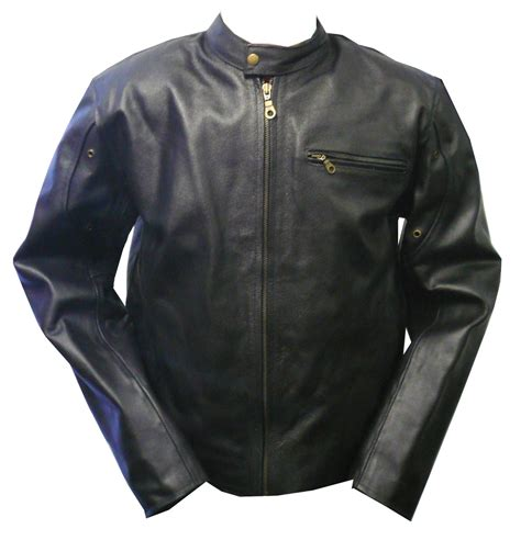 Mens Leather Motorcycle Jackets Coat Nj