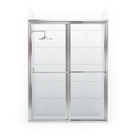 Coastal Shower Doors Newport Series 54 In X 70 In Framed Sliding Shower Door Towel Bar