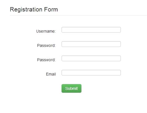 mysql date format w3c registration form using bootstrap free source code