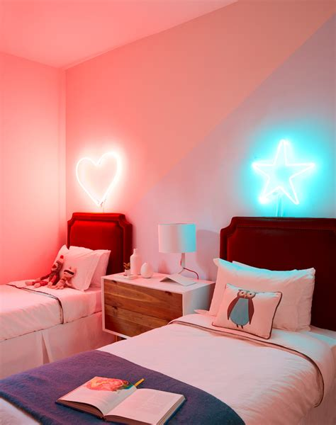 decorative rooms daring home decor neon lights for every room