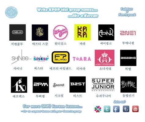 logo kpop idol bam korean hangul with kpop idol groups name thinglink