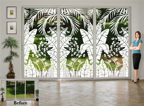 Wallpaper For Glass Doors Glass Doors Go Tropical