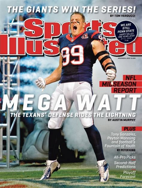 Sports Covers by Nfl Ex Badgers Standout J J Watt Makes Cover Of Sports