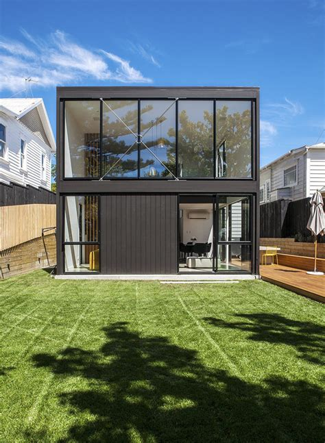 Home Designs Australia Floor Plans by Daring Black Box Extension To A Heritage Worker S Cottage