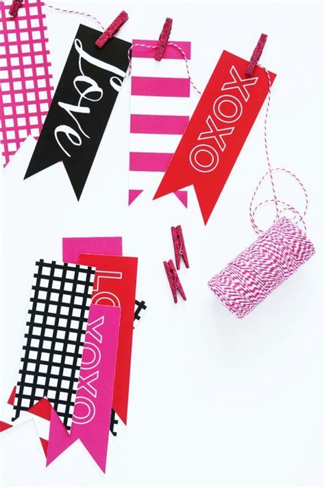 printable valentine banner lovely finds 10 valentine printables