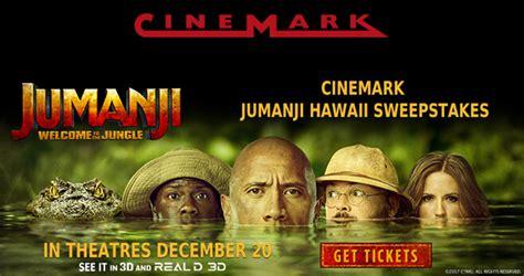 Jumanji Sweepstakes - cinemark jumanji sweepstakes enter for your chance to win