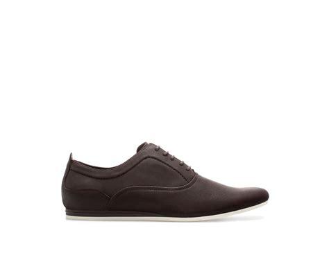 Zara Shoes Brown zara basic slim shoe in brown for lyst