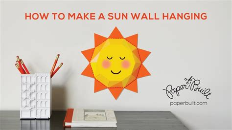 How To Make A 3d Paper - how to make a 3d paper sun to hang on the wall by paper