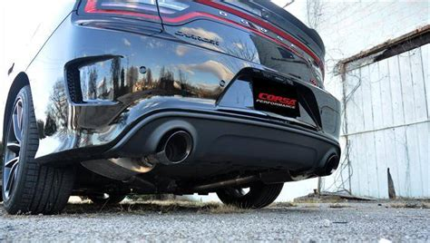 Charger Hellcat Exhaust by Corsa Cat Back Exhaust Black Dodge Charger