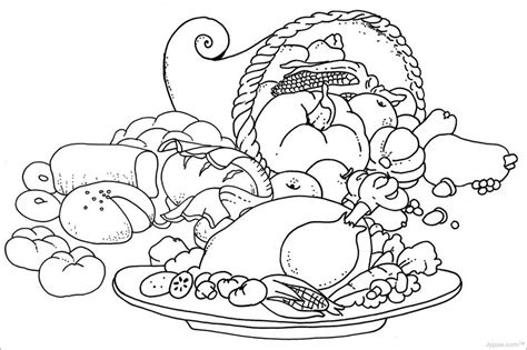 free printable thanksgiving food coloring pages 004 coloring page thanksgiving food coloring pages