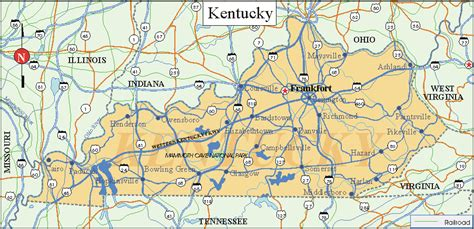 kentucky map facts kentucky facts and symbols us state facts