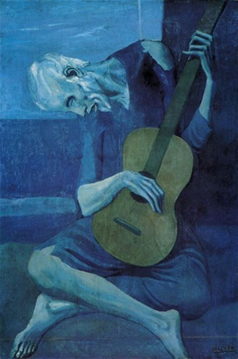 picasso paintings during period matthew the guitarist pablo ruiz picasso 1903