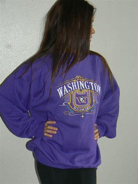 vintage of washington purple sweatshirt uw