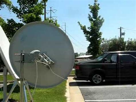 ws international motorized satellite dish antenna  fta  youtube