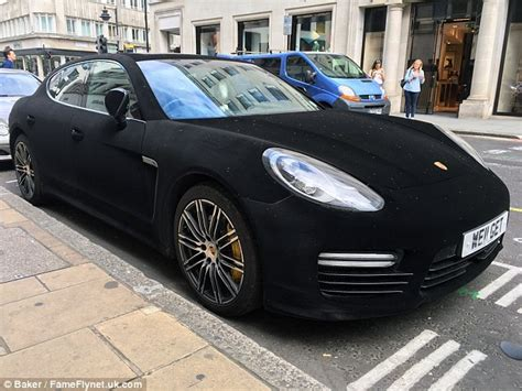 porsche velvet porsche panamera spotted in central with a black