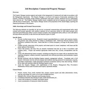 Facilities Manager Description Template by 10 Property Manager Description Templates Free Sle Exle Pdf Format