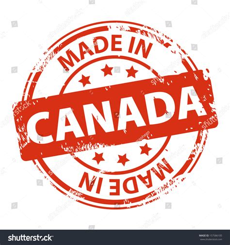 Grunge Made In Canada White - rubber st text made canada icon stock vector 157586105