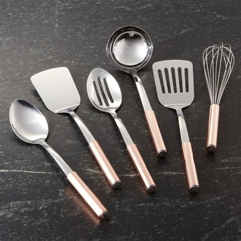 utensils with copper handles crate and barrel