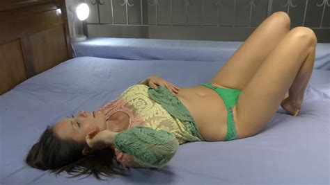 women undressing in bedroom slow motion of beautiful girl on bed undressing part 3