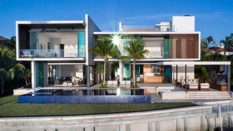 miami modern home design hibiscus island residence an island paradise home in