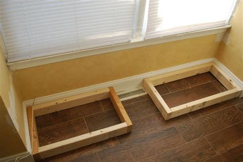 window bench with storage plans diy window bench seat with drawer storage hometalk