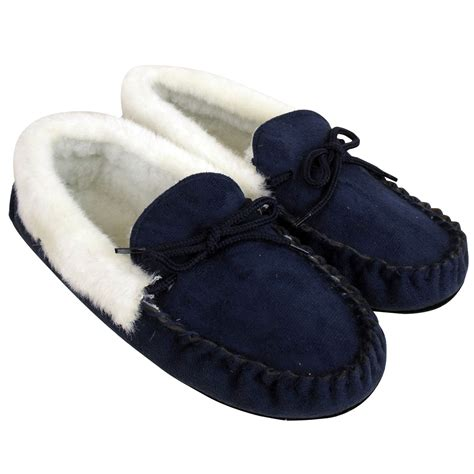 furry house shoes women moccasin faux suede leather furry slippers warm lined moccasins slipper ebay