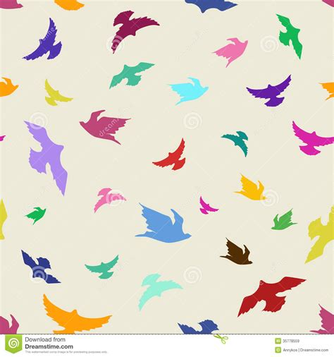 seamless pattern bird seamless pattern of flying colorful birds colourful