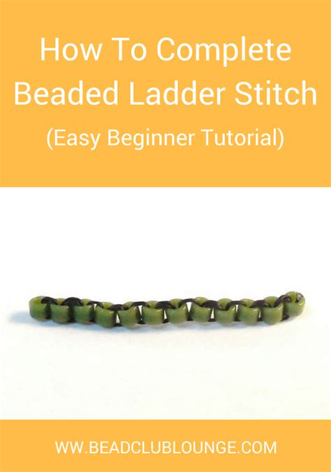 how to do ladder stitch beading how to complete ladder stitch easy beginner tutorial
