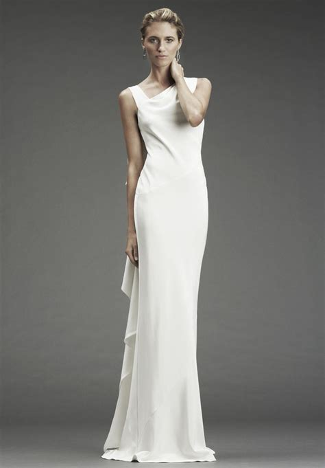 einfache brautkleider satin simple wedding dresses with attractive back designs